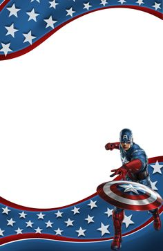 Transparent Kids Frame with Captain America