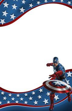 Transparent Kids Frame with Captain America