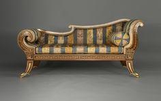 Bon Rosewood Chaise Longue1810, English. Regency FurnitureAntique Furniture.