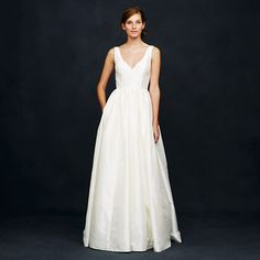 J.Crew - Karlie ball gown- not your typical ball gown, but definitely a beautiful dress. Also has pockets!!