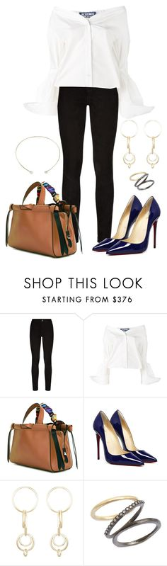 """""""759"""" by mel-ylm ❤ liked on Polyvore featuring Paige Denim, Jacquemus, Paula Cademartori, Jennifer Fisher, Armenta and KC Designs"""