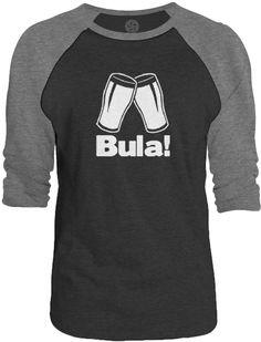 Big Texas Cheers in Fijian (White) 3/4-Sleeve Raglan Baseball T-Shirt