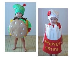 Kids Costume Cheeseburger and french fries Halloween di TheCostumeCafe