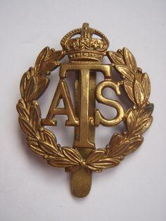 WW2 A.T.S Cap Badge