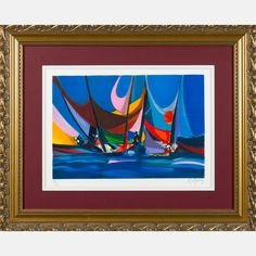 LOT 11 MARCEL MOULY Marcel Mouly , (1918-2008) - Port aux Grands Nuages, Medium: Lithograph, Dimensions: H: 12 1/2 W: 18 1/2 Est: $80-120 With Certificate of Authenticity. Provenance William S. Fitts Trust UAD. Signature Signed lower right and numbered 70/300 lower left in pencil.