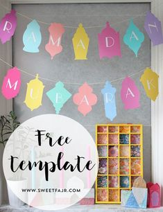 Ramadan Mubarak Banner - Free Template! Perfect Ramadan decor and craft