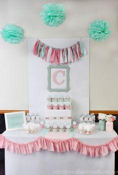 Pink & Mint Bridal Shower