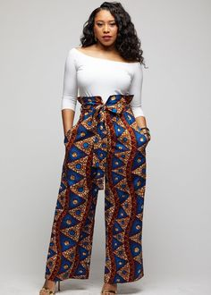 Lina African Print Wide Leg Envelope Pant (Blue Pyramids) – D'IYANU Source by Fashion dresses African Inspired Fashion, Latest African Fashion Dresses, African Print Fashion, Africa Fashion, Modern African Fashion, African Women Fashion, Ankara Fashion, Fashion Women, Nigerian Fashion
