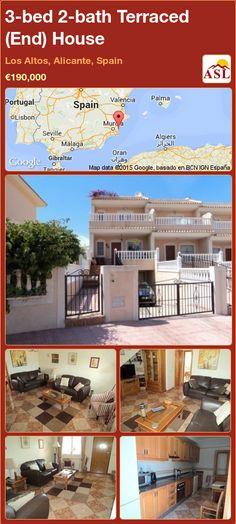 3-bed 2-bath Terraced (End) House in Los Altos, Alicante, Spain ►€190,000 #PropertyForSaleInSpain