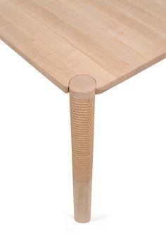 monica förster's wooden furniture for zanat uses a unique hand-carving technique