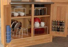 Cabinet Organizer Set Shelves Spice Rack Wrap Rack Sorter Kitchen Organize NEW  #Grayline