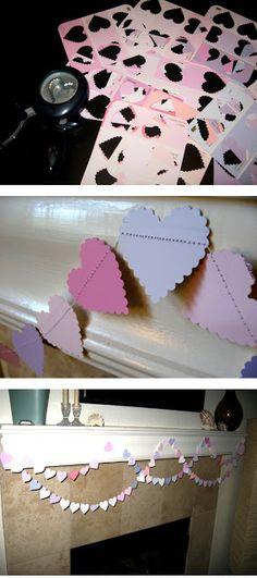 Paint Chip Valentine's Garland