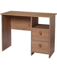 Orio Office Desk - Pine effect. Dressing Table Pine, Cubbies, Office Desk, Corner Desk, Drawers, Desks, Room, House, Stuff To Buy