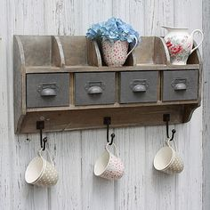 Reclaimed Wood Wall Unit With Steel Drawers <3<3<3