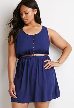 Ladder-Back Babydoll Dress | Forever 21 PLUS - 2000184194