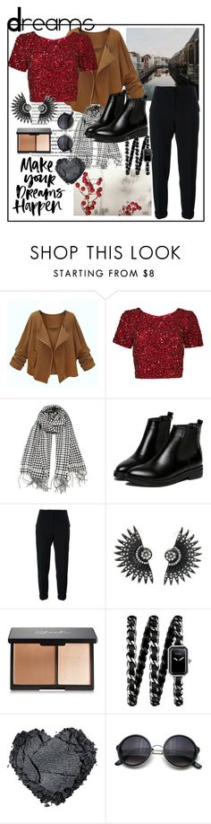 """Dreams"" by teennetwork ❤ liked on Polyvore featuring Balmain, Parker, WithChic, Nanushka, Chanel, women's clothing, women's fashion, women, female and woman"