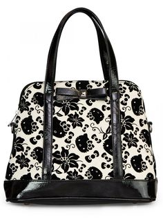 """Hello Kitty Floral"" Crossbody Bag by Loungefly (Black/Cream) - InkedShop"