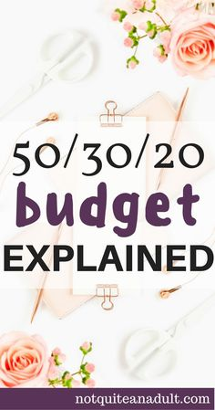 Budgeting can be hard when you're just getting started, if you want to save money and get out of debt you should start using the 50/30/20 budget. #budget #money #saving