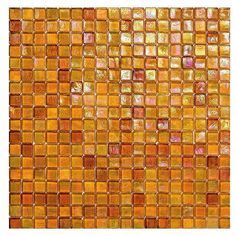 #Sicis #Glimmer Tangerine 103 1,5x1,5 cm | #Murano glass | on #bathroom39.com at 328 Euro/box | #mosaic #bathroom #kitchen