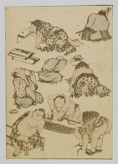 ) (late Edo) pigments on mulberry paper x cm) Japanese Prints, Japanese Art, Art Occidental, Katsushika Hokusai, Gravure, Japanese Culture, Historian, Motifs, Manga Art