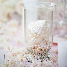 shells in vases