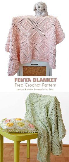 Vintage Style Fenya Blanket Free Crochet Pattern (Your Crochet) Baby Afghan Crochet Patterns, Crochet Quilt, Baby Blanket Crochet, Crochet Motif, Free Crochet, Knitting Patterns, Knit Crochet, Crochet Afghans, Crochet Blankets