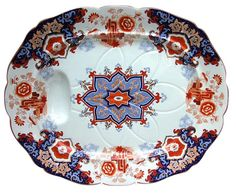 Large Footed ASHWORTH Imari Well Charger Plates, Porcelain Vase, Platter, Tray, Conditioner, Wellness, English, Fancy, Teacups