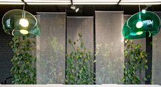 Kaynemaile seamless mesh. Green wall.