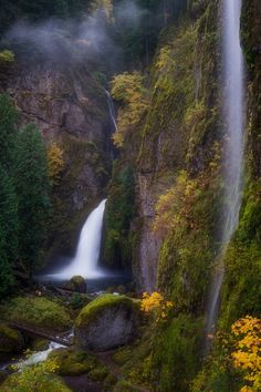 Wahclella Autumn, Columbia River Gorge..by Erin Rigg