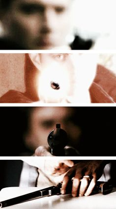 """[gifset] """"Back in 1835, when Halley's Comet was overhead, same night those men died at the Alamo, they say Samuel Colt made a gun. A special gun. He made it for a hunter. A man like us, only on horseback. Story goes, he made thirteen bullets. This hunter used the gun a half dozen times before he disappeared, the gun along with him… Somehow Daniel got his hands on it. They say… they say this gun can kill anything."""""""
