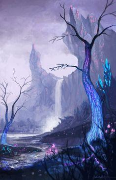 fantasy scene by BruceMashbatArt  http://bmd247.deviantart.com/?rnrd=39374  http://art-is-magical.tumblr.com/