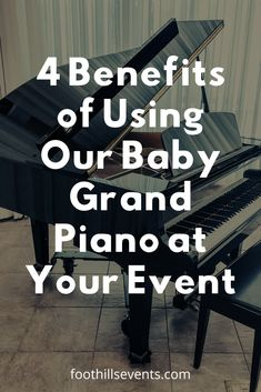 4 Benefits of Using Our Baby Grand Piano at Your Event - The Foothills Event Center Diy Your Wedding, Wedding Tips, Wedding Decor, Wedding Ceremony, Wedding Stuff, Wedding Day, Top Honeymoon Destinations, Baby Grand Pianos, Wedding Planning Guide