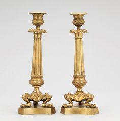 Par de casticais Imperio do sec.19th em bronze gilded a ouro, 30cm de altura, 3,525 USD / 3,250 EUROS / 13,850 REAIS / 23,090 CHINESE YUAN soulcariocantiques.tictail.com