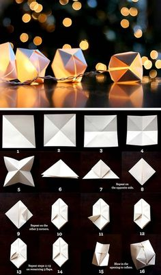 Origami inspired lantern {light} instructions ~ wedding ideas