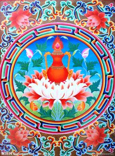 Tibetan Symbols, Buddhist Symbols, Buddhist Art, Tibetan Mandala, Tibetan Art, Lotus Tattoo, Tattoo Ink, Buddha, Vajrayana Buddhism
