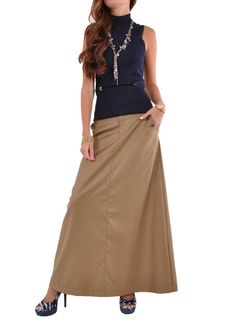Long tan skirt from Style J