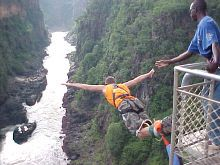 Victoria Falls Bungy, between Zimbabwe and Zambia, Africa