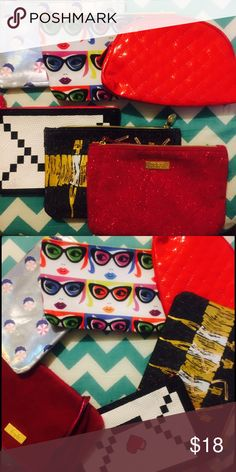 6 MAKEUP BAGS Fun bags to keep for yourself or give to your friends. 6 styles that hold anything from makeup to hair ties to toiletries.   Reasonable offers accepted! I ❤ Bundles! 🚫No Trades Please🚫  Tags: ipsy makeup case bag coin purse wallet clutch faux fur retro subscription lipstick brush holder collectible beauty Makeup