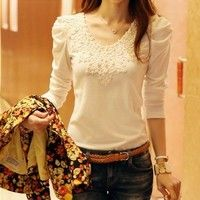 I think you'll like brand autumn spring new women's casual and fashion shirt lace tops cute elegant long sleeves blouses. Add it to your wishlist!  http://www.wish.com/c/5323fdc0796f6806e07a2ec6