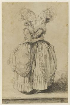 """courtroyale: """" Marie Antoinette and Madame Elizabeth (Louis XVI's sister) in an embrace. (C) RMN / Stéphane Maréchalle """""""