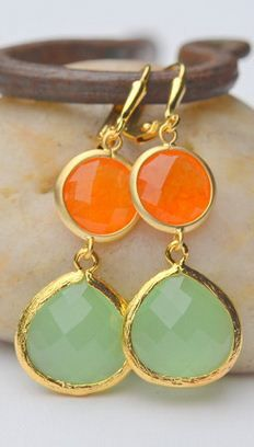 orange, gold and mint! really loving these colors together!