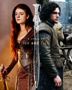 Ygritte and Jon Snow ~ Game of Thrones Fan Art