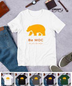 tee-shirt original Be MOC for boys&girls T Shirt Original, Tee Shirts, Tees, Boy Or Girl, The Originals, Mens Tops, Shopping, Fashion, Navy And Green