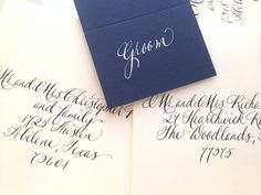 Named for one of my 3 girls, this is a pretty, elegant hand lettering for all of your special occasions! INVITATIONS  Outer Envelopes: $2.50 each