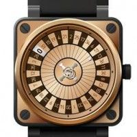 Bell and Ross Casino Watch BR01. Features miniature roulette wheel.