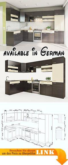 B01MAYVX6H  NEU KÜCHE Martha Weißlack 230x170 CM KÜCHENZEILE - küchenblock 260 cm