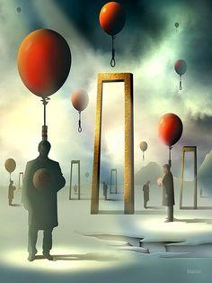 Os Condenados by Marcel Caram Surreal Artwork, Surreal Photos, Marcel, Salvador Dali Kunst, Arte Pink Floyd, Art Visionnaire, Art Sculpture, Rene Magritte, Magic Realism
