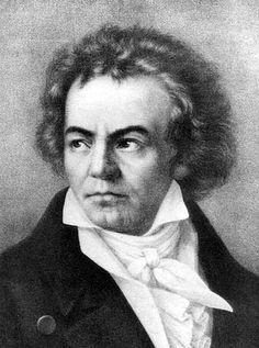 Ludwig van Beethoven -Zeitgenössisches Schwarzweiß-Gemälde