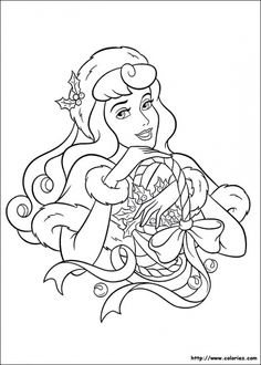 Princess Christmas 01 Coloring Pages Printable And Book To Print For Free Find More Online Kids Adults Of