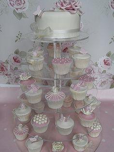 Cupcake wedding cakes on pinterest wedding cupcake towers